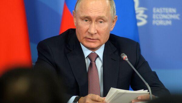 Президент РФ Владимир Путин на ВЭФ.