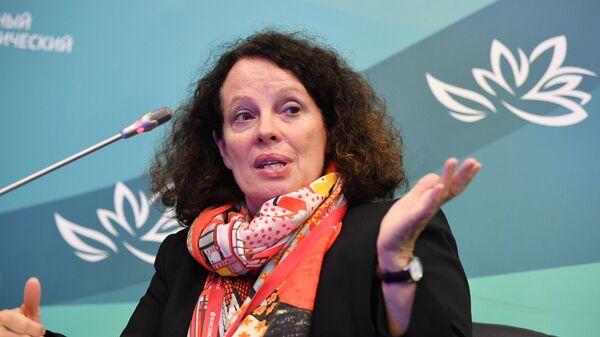 Чрезвычайный и полномочный посол Французской Республики в РФ Сильви-Аньес Берманн на IV Восточном экономическом форуме