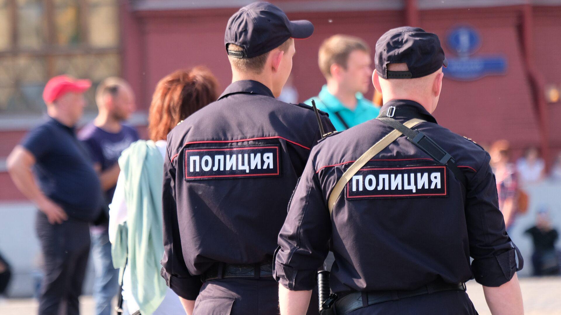 Сотрудники полиции на улице Москвы - РИА Новости, 1920, 04.08.2021