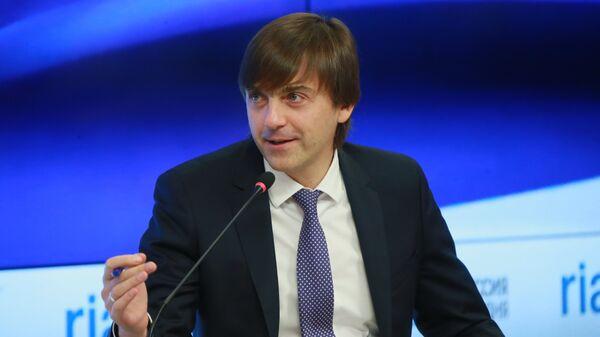 Руководитель Федеральной службы по надзору в сфере образования и науки Сергей Кравцов в пресс-центре МИА Россия сегодня