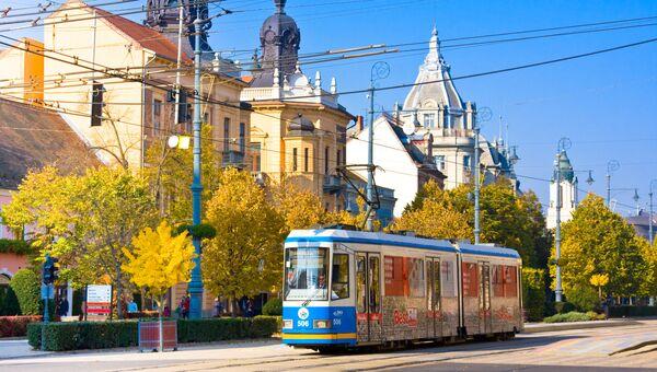 На улице города Дебрецен, Восточная Венгрия