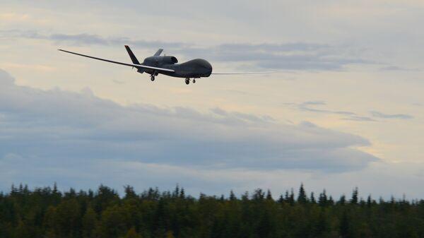 Стратегический разведывательный беспилотный летательный аппарат ВВС США RQ-4 Global Hawk. Архивное фото