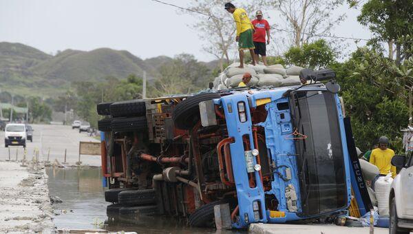 Последствия тайфуна Мангхут на Филиппинах. 16 сентября 2018
