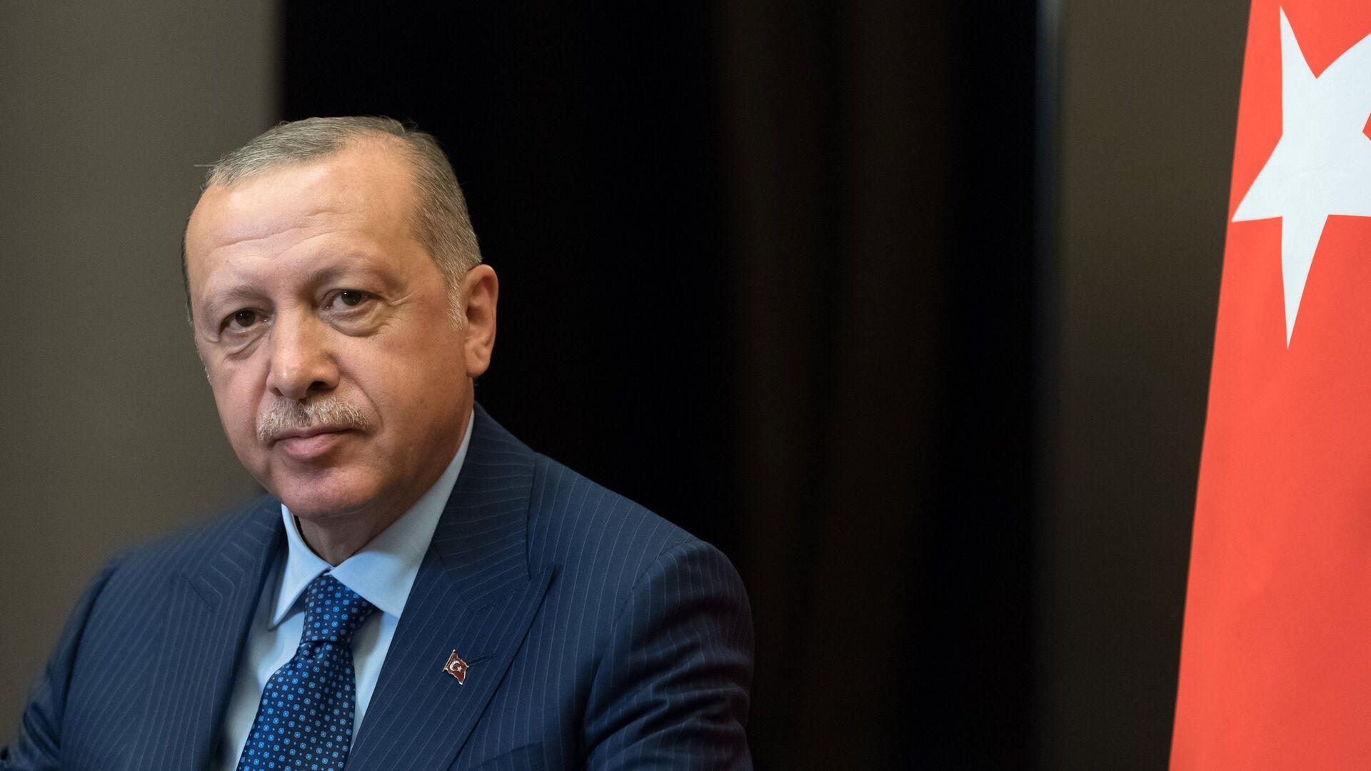 Президент Турции Реджеп Тайип Эрдоган во время встречи с президентом РФ Владимиром Путиным в Сочи. 17 сентября 2018 - РИА Новости, 1920, 18.06.2021