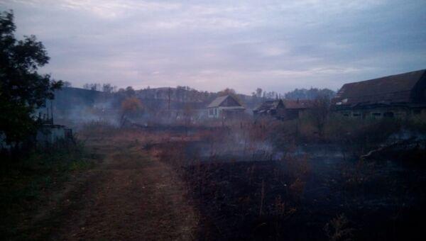 Последствия пожара в окрестностях города Медногорска, Оренбургской области. 17 сентября 2018