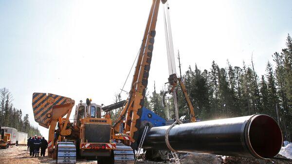 Строительство газопровода Сила Сибири