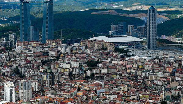 Вид на город Стамбул