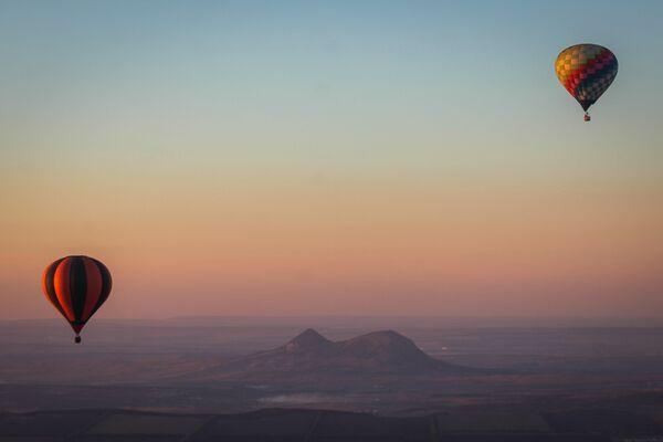 Воздушные шары на фестивале воздухоплавания Кавказские Минеральные Воды - Жемчужина России на Ставрополье