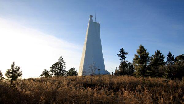 Национальная солнечная обсерватория, находящаяся на пике Сакраменто в Нью-Мексико, США