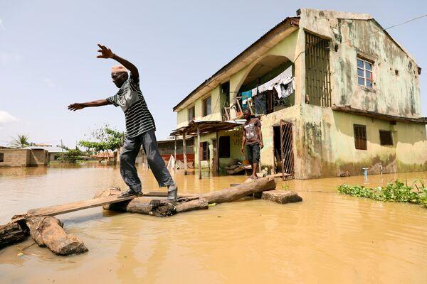 Последствие наводнения в штате Коги, Нигерия