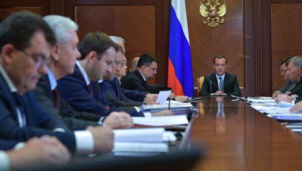 Председатель правительства РФ Дмитрий Медведев на заседаниие президиума Совета при президенте РФ по стратегическому развитию и национальным проектам. Архивное фото