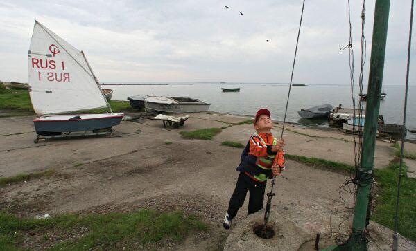 Побережье полуострова Балтийская коса в Калининградской области