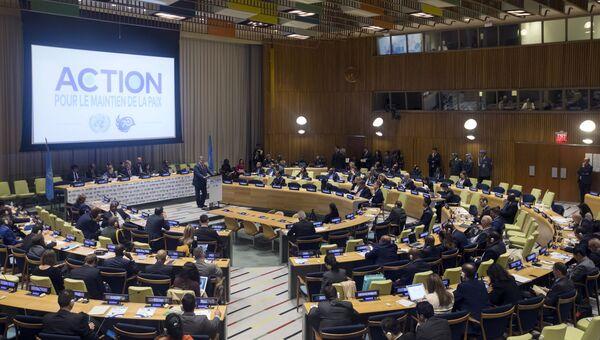 Президент Украины Петр Порошенко выступает на Генеральной ассамблее ООН. 26 сентября 2018