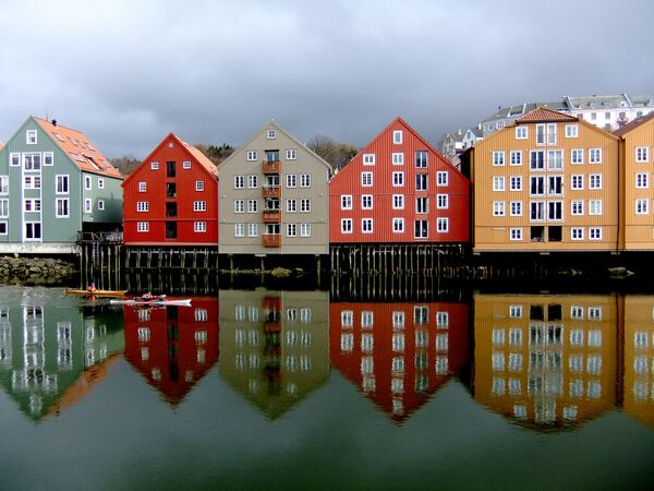 Цветные дома Норвегии