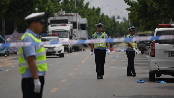 Сотрудники правоохранительных органов Китая. Архивное фото