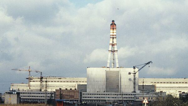 Игналинская атомная электростанция. Фото 1986 года.