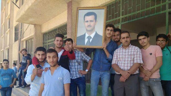 Учащиеся школы в Сирии. Архивное фото