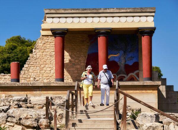 Развалины Кносского дворца царя Миноса