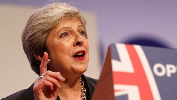 Премьер-министр Великобритании Тереза Мэй на закрытии съезда Консервативной партии