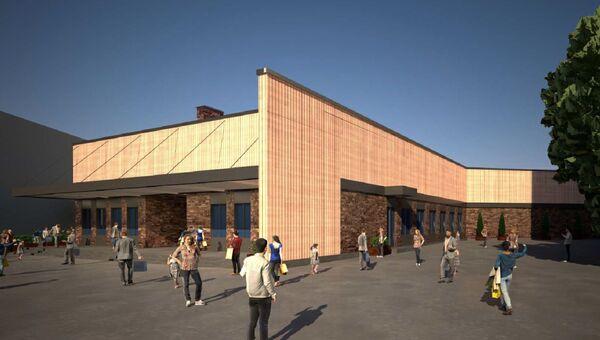 Проект крытого торгово-выставочного центра в московском районе Ясенево