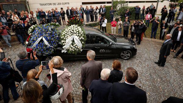 Похороны Монсеррат Кабалье в Барселоне