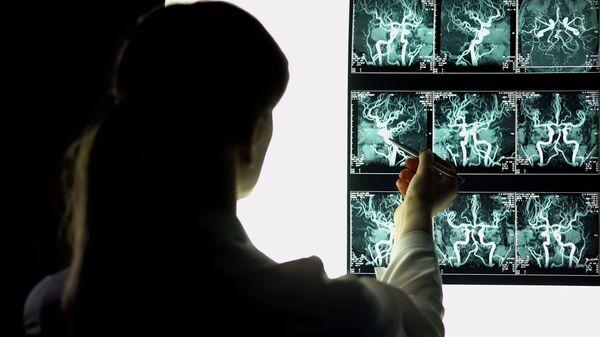 Рентгенография кровеносных сосудов. Архивное фото