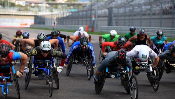Международный полумарафон на инвалидных колясках в Сочи