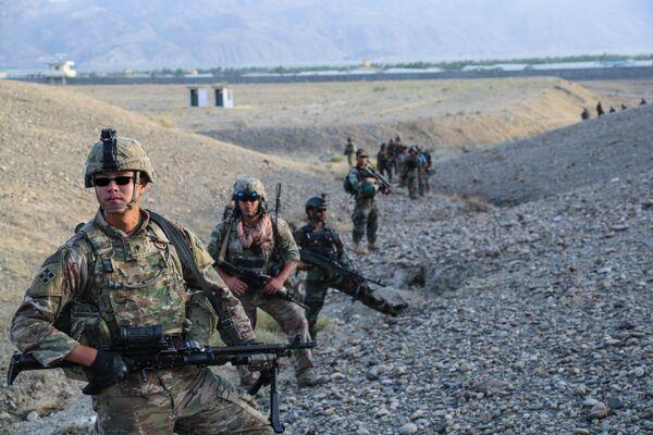 Военнослужащие армии США во время учений в Афганистане