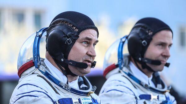Космонавт Роскосмоса Алексей Овчинин и астронавт NASA Ник Хейг. Архивное фото