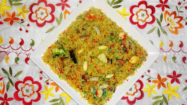 Зарда – сладкое блюдо из риса и сухофруктов