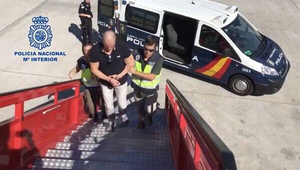 Национальная полиция Испании задержала главу преступной группировки в Мадриде, Испания. 15 октября 2018