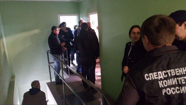 Место взрыва в офисном центре в Казани. 15 октября 2018