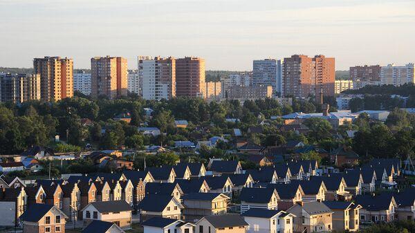 Вид на строящийся жилой комплекс. Архивное фото