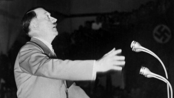 Рейхсканцлер Германии Адольф Гитлер