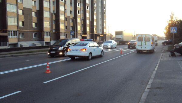 ДТП с наездом на пешеходов на нерегулируемом пешеходном переходе в Тамбове. 16 октября 2018