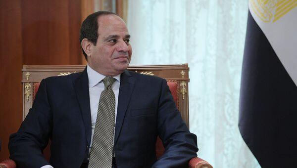 Президент Арабской Республики Египет Абдель Фаттах ас-Сиси во время встречи с президентом РФ Владимиром Путиным. 17 октября 2018