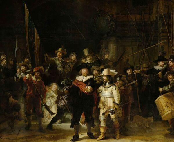 Картина Рембрандта Харменса ван Рейна Ночной дозор