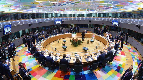 Участники на саммите ЕС в Брюсселе. 18 октября 2018