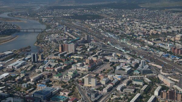 Вид на Улан-Удэ с высоты птичьего полета.