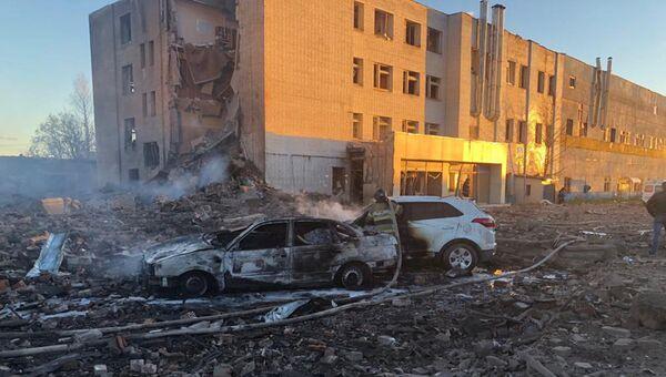 Взрыв на территории завода Авангард