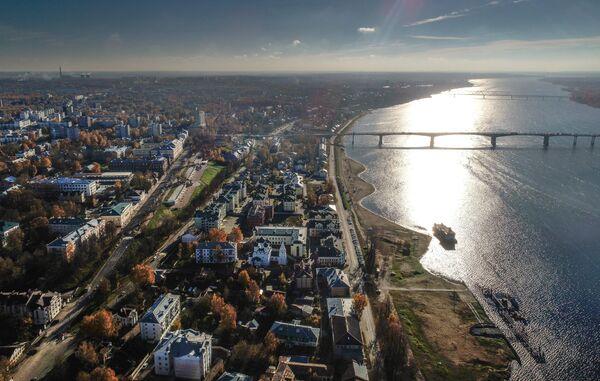 Река Волга в Костроме