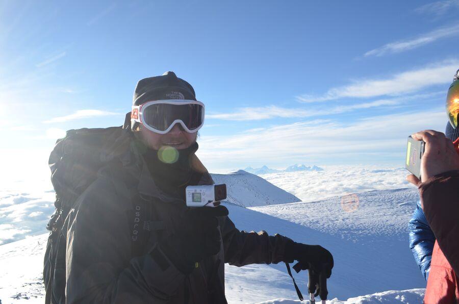 На вершине Эльбруса. Август 2018
