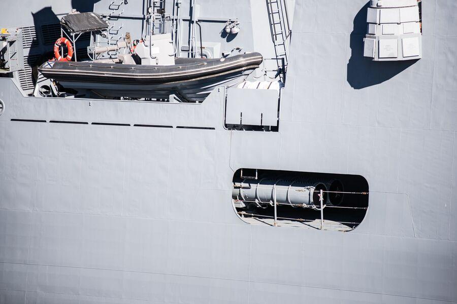 Ниша правого торпедного аппарата на фрегате Адмирал Макаров