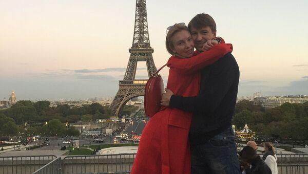 Франция. Париж. Эйфелева башня. С Татьяной Тотьмяниной