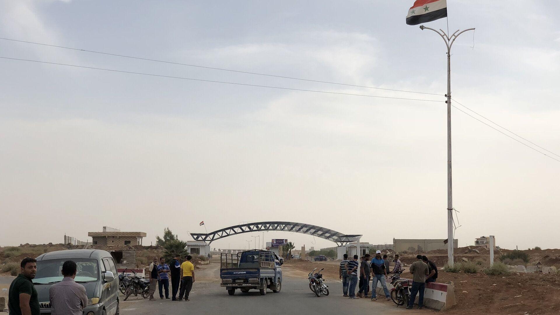 Пограничный переход Насиб на сирийско-иорданской границе - РИА Новости, 1920, 30.07.2021
