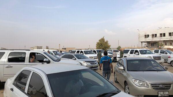 Пограничный переход Насиб на сирийско-иорданской границе