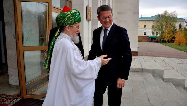 Верховный муфтий России Талгат Таджуддин во время проведения конференции Центрального духовного управления мусульман России в Уфе