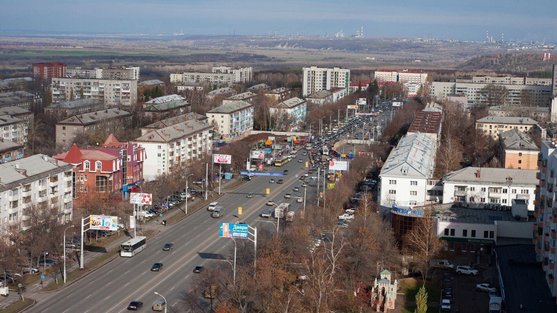 Вид на проспект Октября в Уфе. - РИА Новости, 1920, 03.11.2020