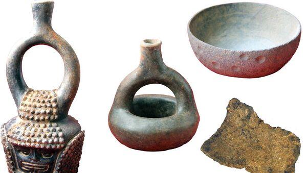 Керамика древних индейцев со следами Какао