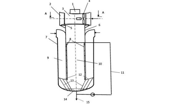 Схема устройства для получения пресной воды из атмосферного воздуха и выработки электроэнергии